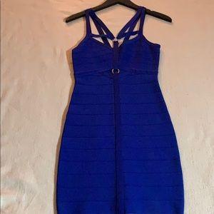 Blue Bandage Dress Bebe